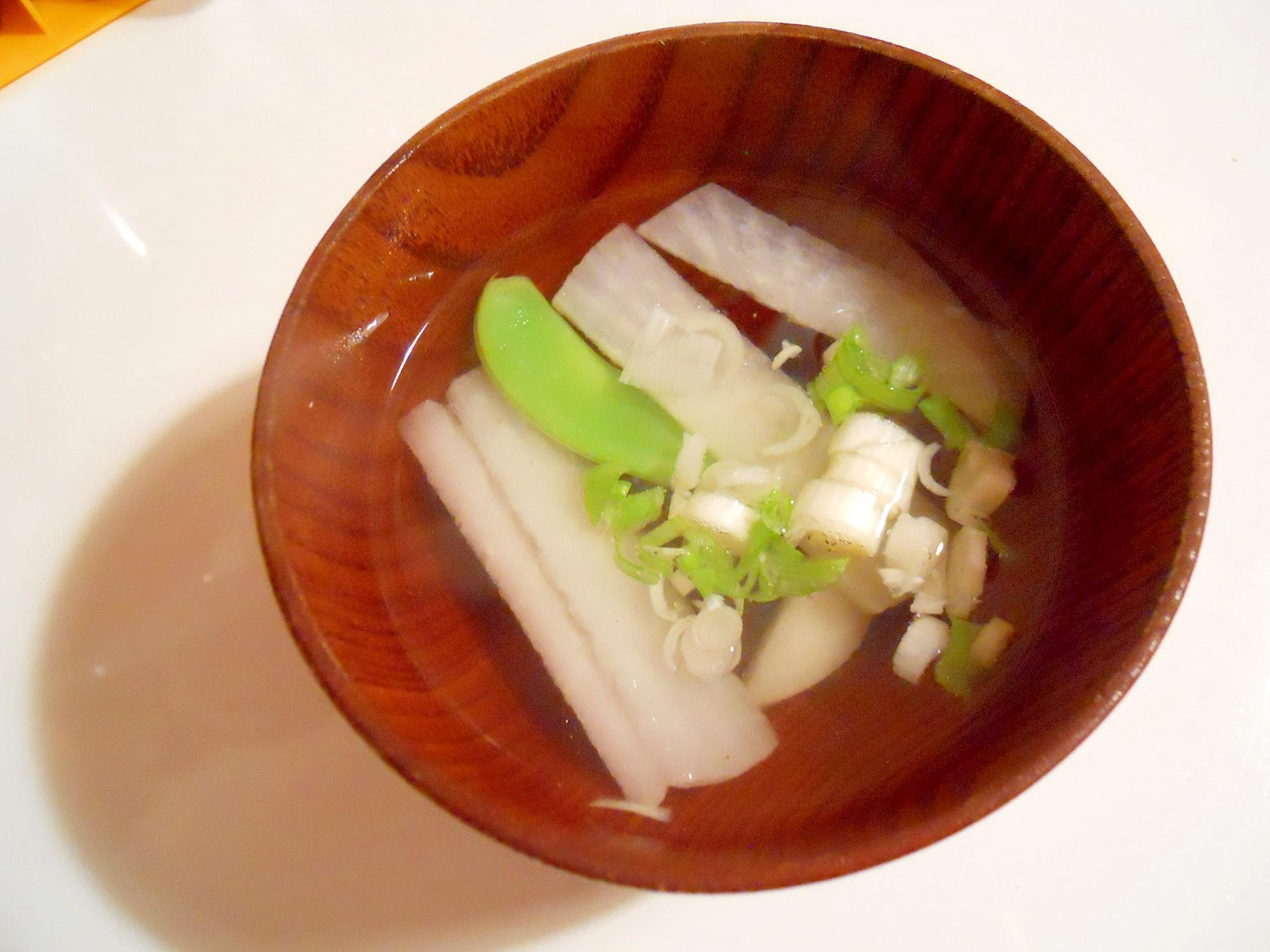 薄味☆春野菜でお吸い物