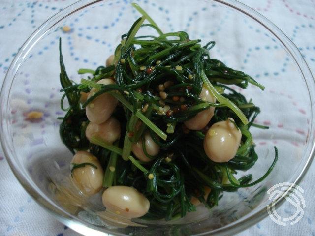 オカヒジキと大豆のさっぱりサラダ