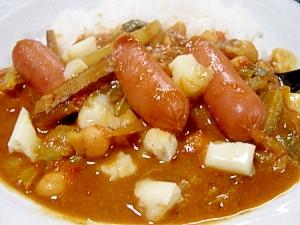 15分で本格カレー☆ひよこ豆と白菜のチーズカレー