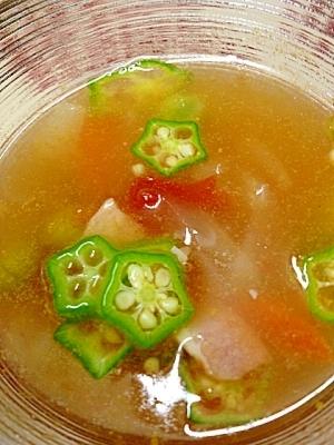 オクラ スープ レシピ
