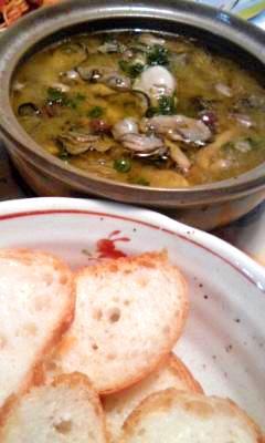 牡蛎とキノコのスペイン風オイル煮*アヒージョ