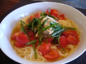 トマトツナにゅう麺
