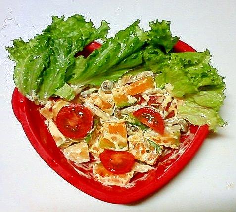 カボチャとシメジの温野菜サラダ