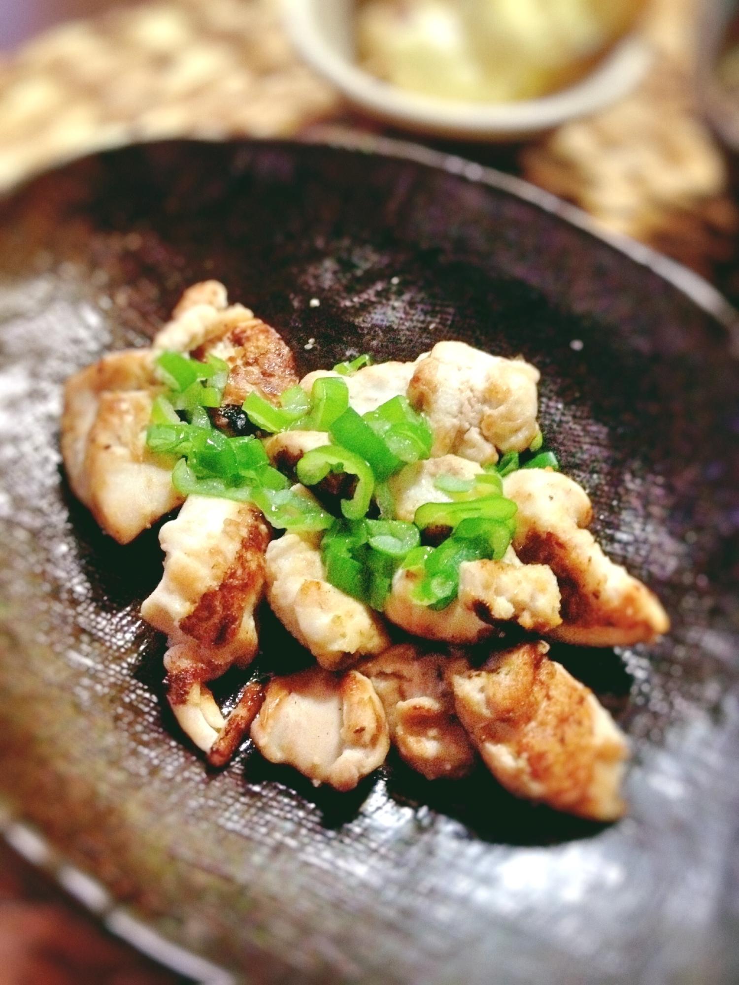 2. 鮭の白子の柚子胡椒ソテー