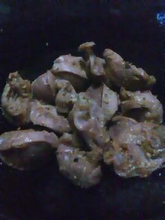 砂肝の七味炒め