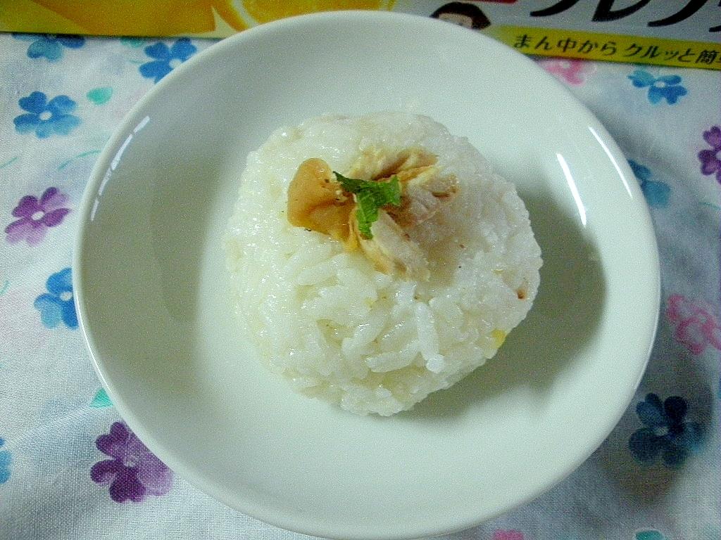 北海道☆焼きさんまと梅と大葉のおにぎり☆