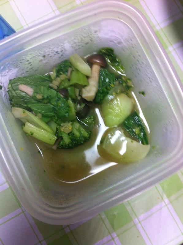 中華風★しめじとチンゲン菜の炒め物★