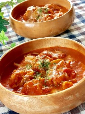 チキン の トマト クリーム 煮