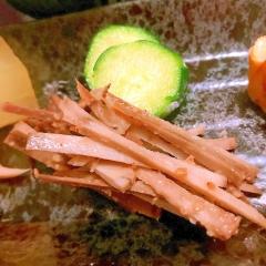 牛蒡の豆乳実山椒胡麻和え
