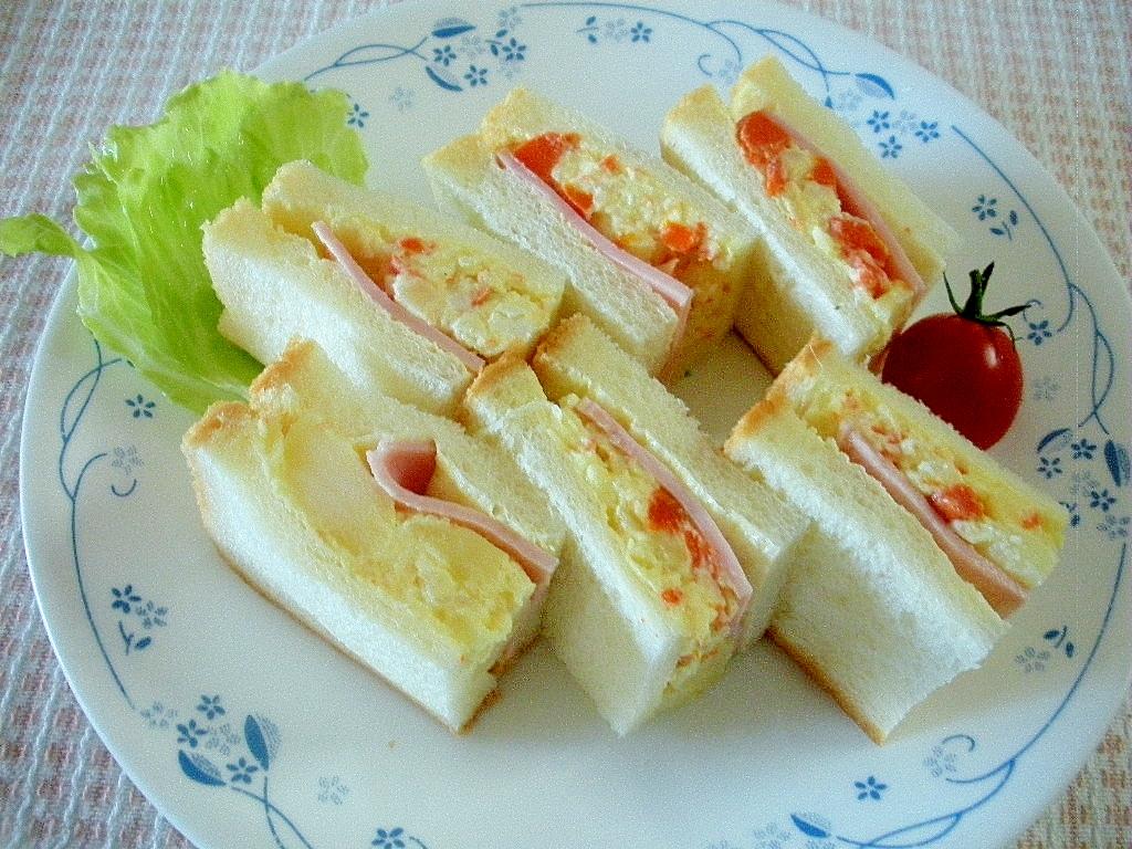 【お手伝いレシピ】ハムとポテトのサンドイッチ