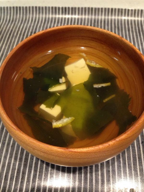 柚子香る豆腐のお吸い物