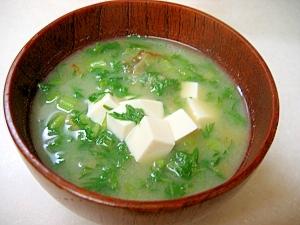 1. 大根と人参葉っぱの味噌汁