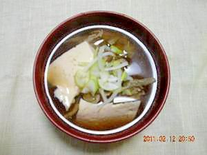 麺つゆで簡単☆生姜たっぷりつみれ汁