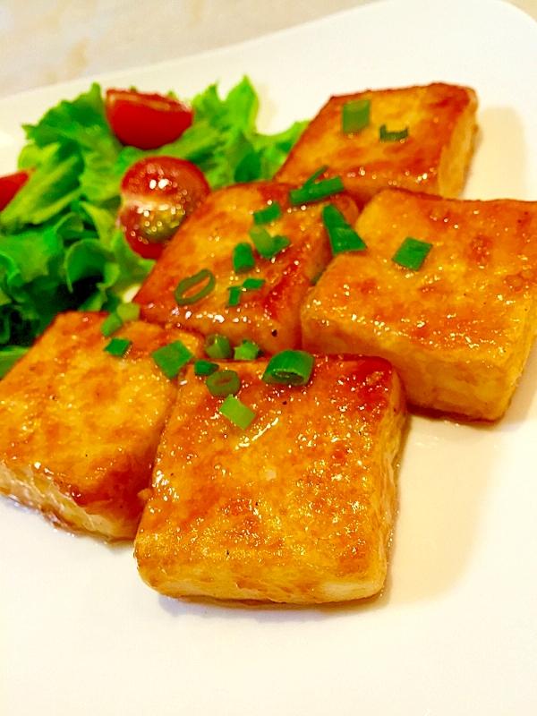 簡単節約♪うちのガリバタ豆腐ステーキ レシピ・作り方