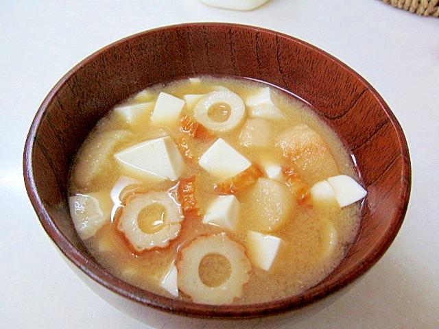 *ちくわと豆腐の味噌汁*