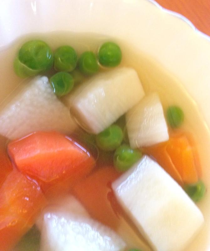☆長芋♪ながいもと人参の簡単スープ☆