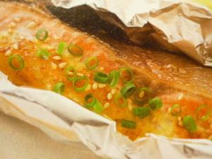 鮭のマヨ味噌ホイル焼き♪