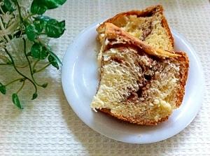 ホームベーカリーで簡単♪マーブルチョコパン