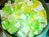豆腐のめんつゆ炒め