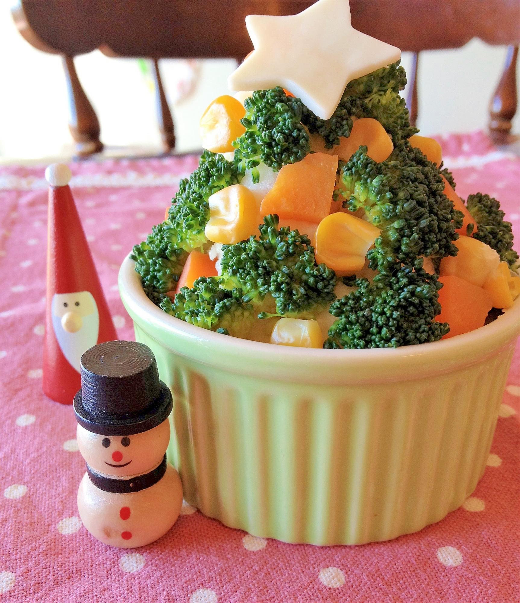 【サラダ】ツリー風ポテトサラダ