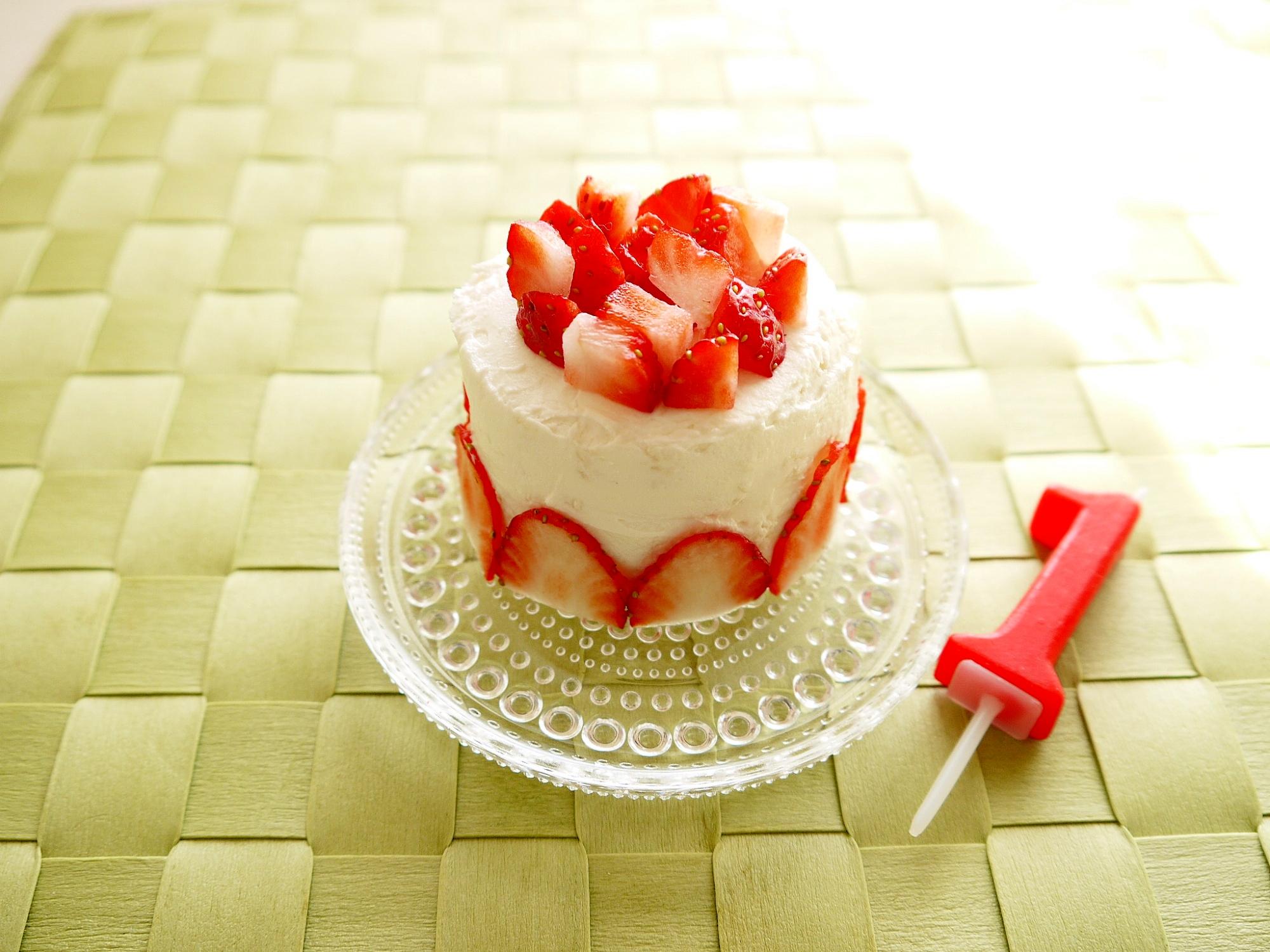 1. ヨーグルトクリームのドームケーキ
