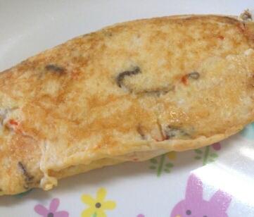 離乳食完了期☆豆腐ともずくのふんわりオムレツ