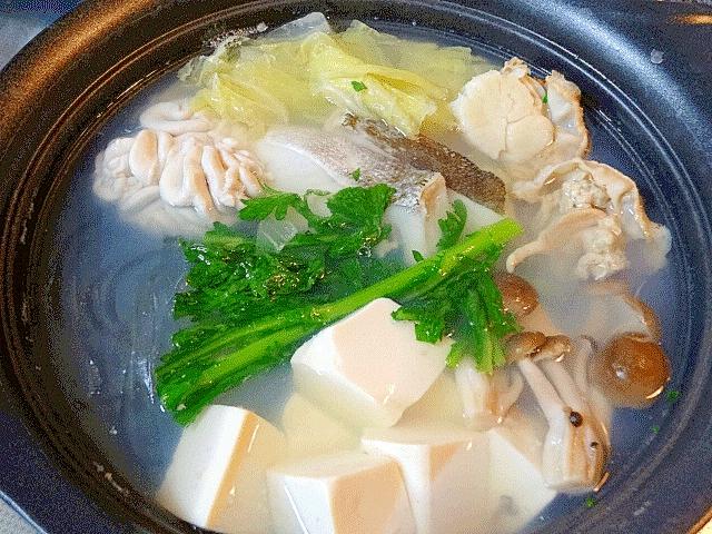 2. 料亭風!海鮮塩ちゃんこ鍋