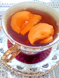 秋のティータイム☆柿入り紅茶♪