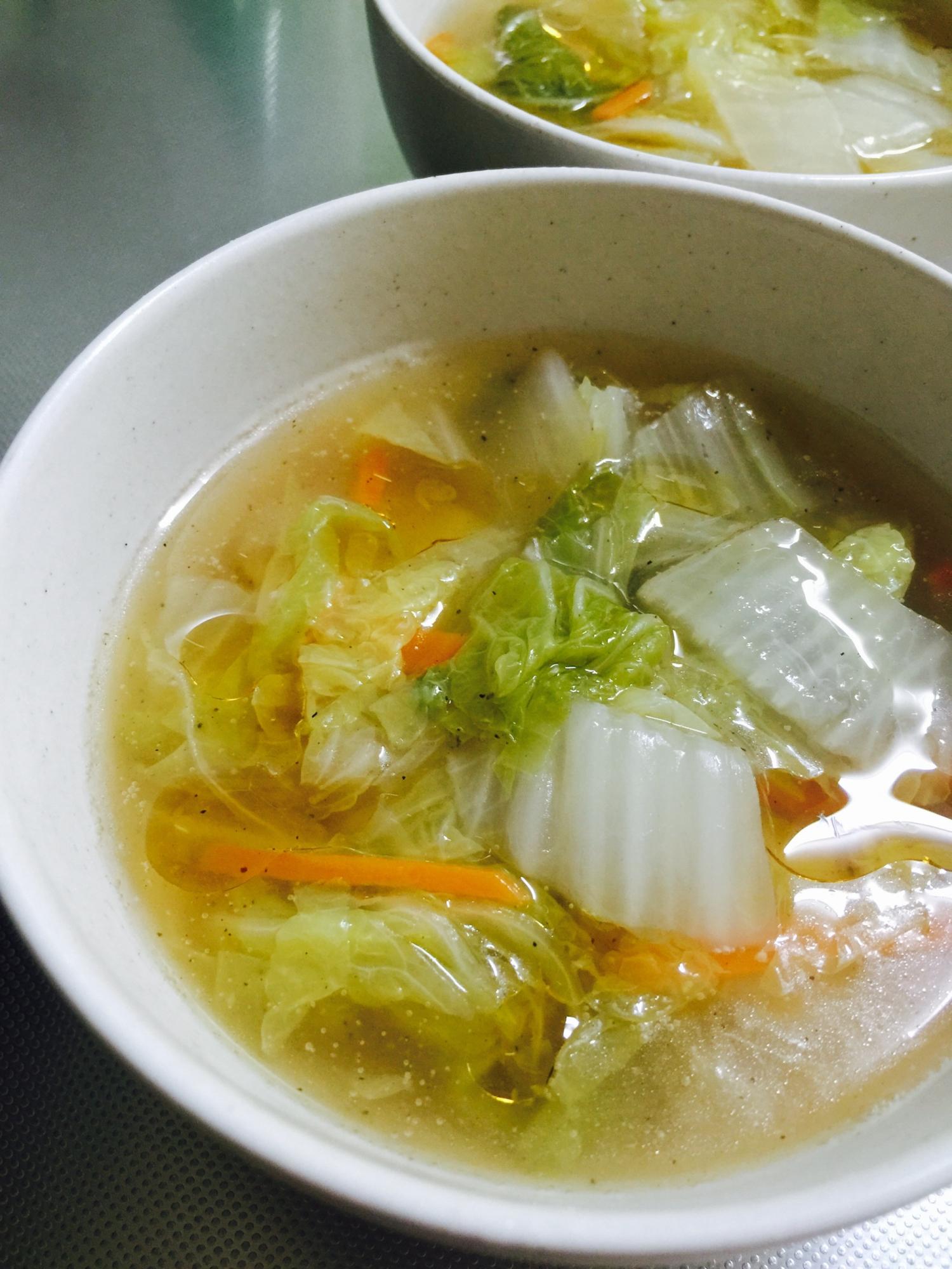 3. 白菜たっぷり中華とろみスープ