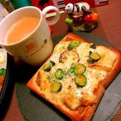 がっつり大麦カレー×ホワイトソースのグラタンパン