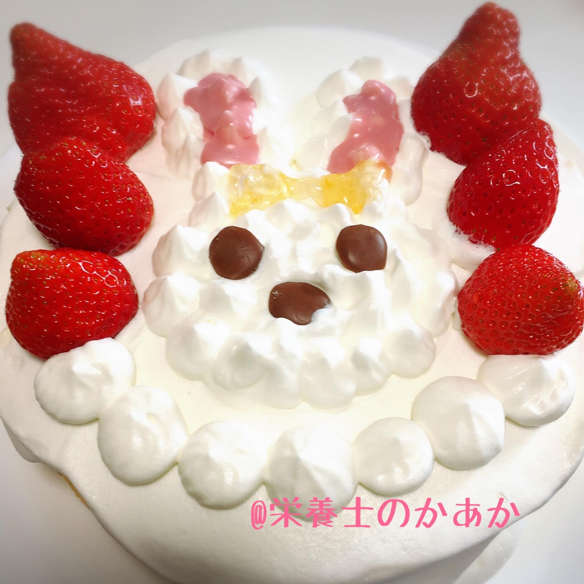 キラキラ☆プリキュアアラモードうさぎショートケーキ レシピ・作り方 by 栄養士のかあか|楽天レシピ