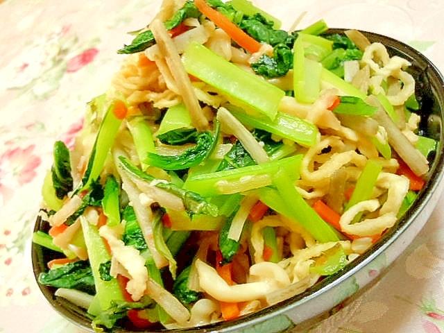 小松菜&どんこ&切り干し大根&牛蒡人参の煮物