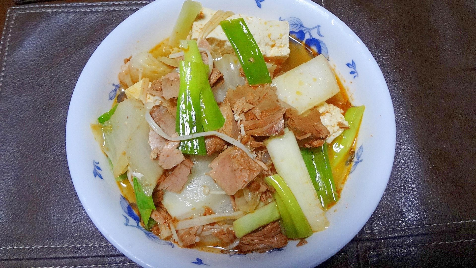 キムチ鍋用シーチキンを使った煮物