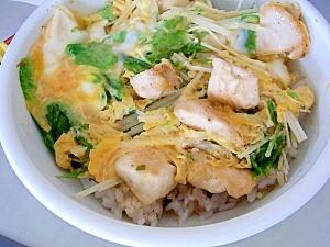 カップ麺の汁で作る親子丼