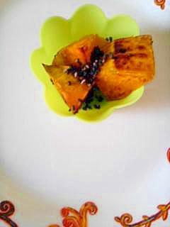 焼いてかぼちゃの大学芋