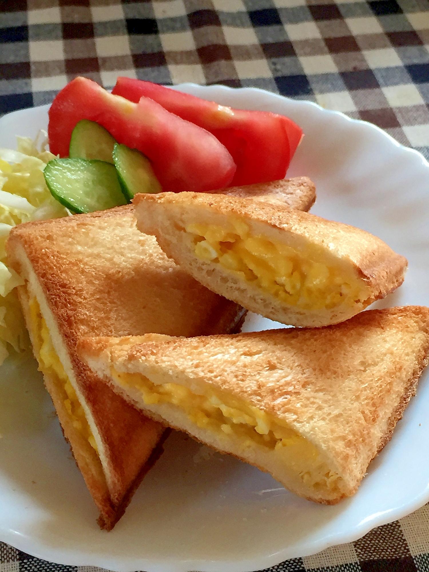 子供ウケ抜群♫卵ホットサンド レシピ・作り方 by みさきらりんず|楽天レシピ