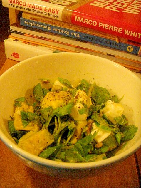 フェタとアボカドのミントすっきりサラダ。
