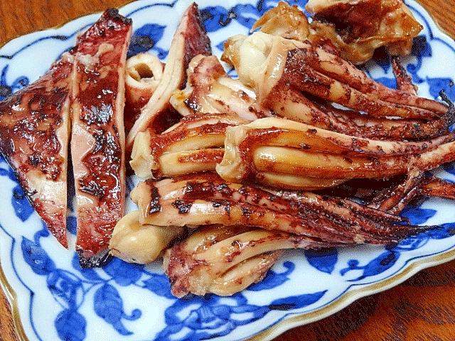 山ワサビ風味☆ 「イカゲソ醤油漬け焼き」