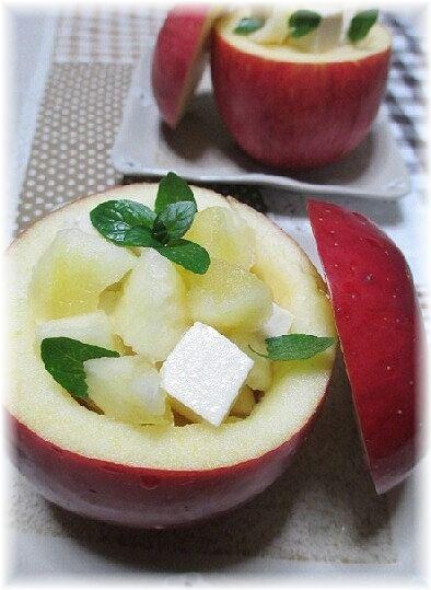 りんごのカップの可愛いデザートサラダ♪ レシピ・作り方 by はなまる子♪|楽天レシピ
