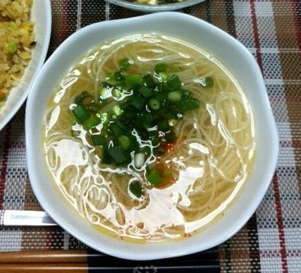 ラーメン風?素麺の中華スープ☆