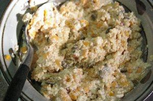 レンズ豆と豆腐のタルタルソース風