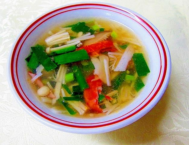 ニラとキノコの旨味スープ