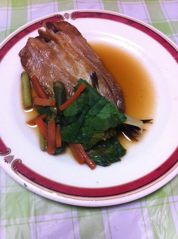 野菜も一緒に★さんま&野菜の甘酢焼き