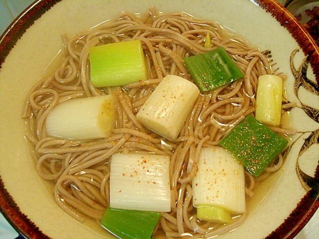 白葱ポコポコ蕎麦