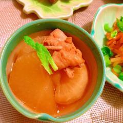 鶏肉と大根のバター醤油煮込み