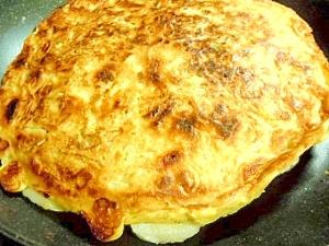 竹輪とお餅入りチーズお好み焼き