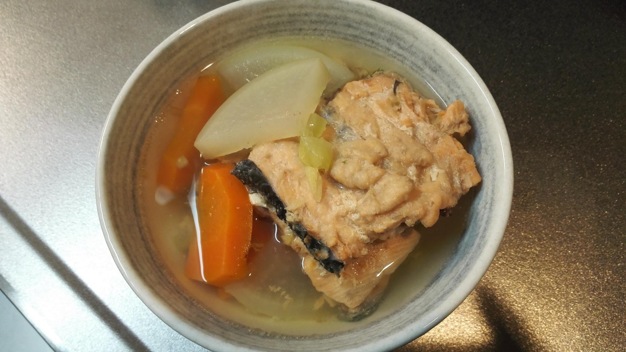 鮭のじゃっぱ汁~鮭のあら汁~