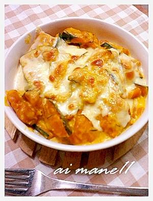 鍋一つで作る!簡単かぼちゃのグラタン レシピ・作り方