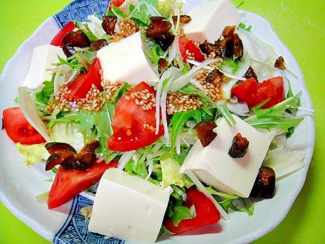 豆腐とトマトキューちゃんの和風サラダ