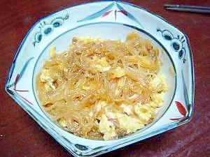 とろとろ卵のマーボー春雨 レシピ・作り方